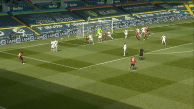 Fernandes free-kick deflects over (38)