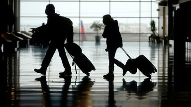 Travelers are shown in Salt Lake City International Airport Tuesday, March 9, 2021, in Salt Lake City. Pic: AP