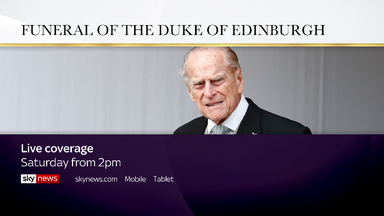 TV promo for Prince Philip funeral