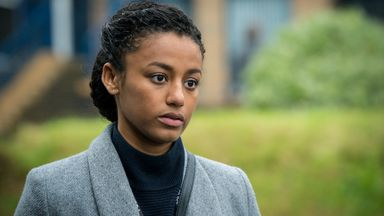 Shalom Brune-Franklin as DC Chloe Bishop in Line Of Duty. Pic: BBC/World Productions/Steffan Hill