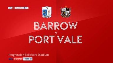 Barrow 0-2 Port Vale