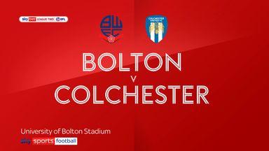 Bolton 0-0 Colchester