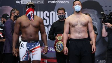 Chisora and Parker share intense  face-off