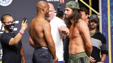 Tense face-off between Usman, Masvidal
