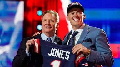 Patriots select quarterback Jones