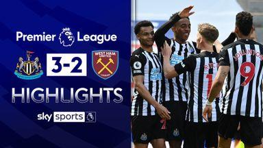 Newcastle beat West Ham in thriller