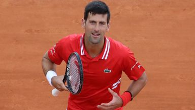 Djokovic eases past Sinner