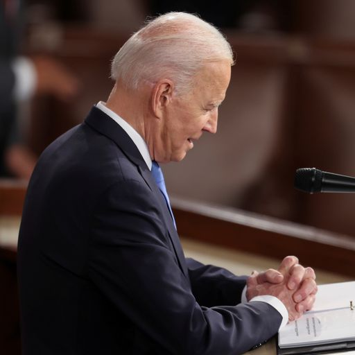 Joe Biden says 'America is on the move again' - but unity or even reconciliation seems far off