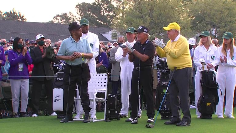 The Masters: Lee Elder plays a ceremonial role with Jack Nicklaus and Gary Player at Augusta |  Golf news
