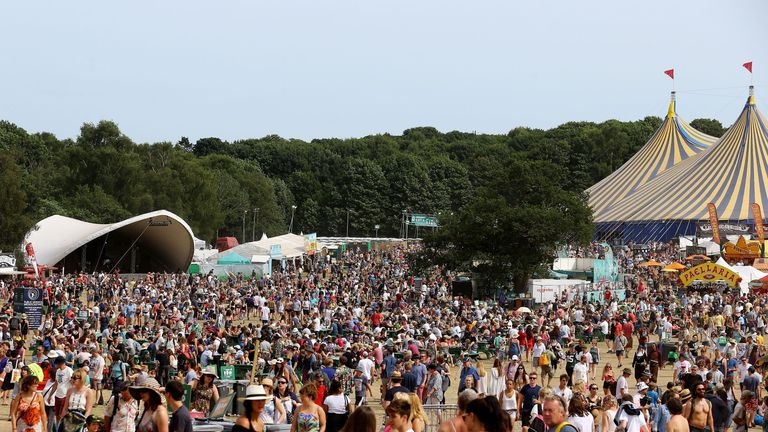 A general view of the Latitude festival in Henham Park, Southwold, Suffolk.