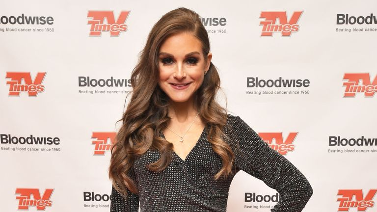 Nikki Grahame attends the Christmas with the Stars annual concert, in aid of blood cancer research charity Bloodwise, at the Royal Albert Hall in London.