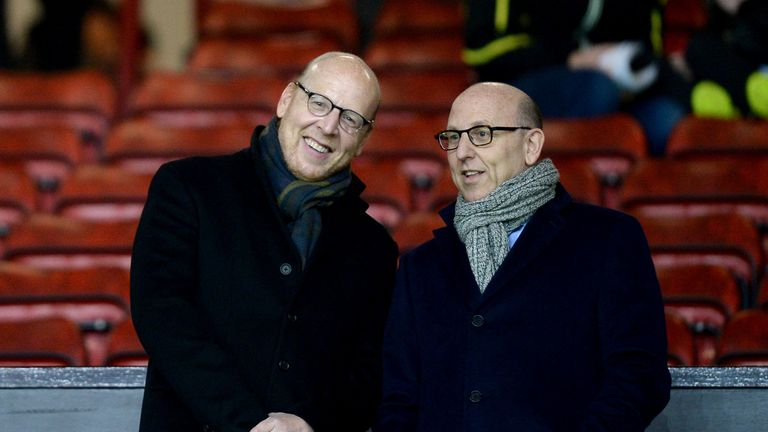 File photo dated 11-02-2015 of Manchester United joint chairmen Joel Glazer (right) and Avram Glazer (left). Issue date: Monday April 19, 2021.