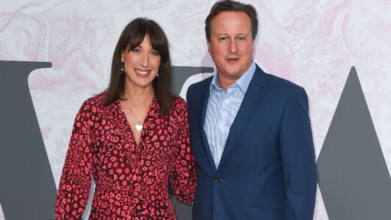 Samantha and David Cameron attending the Victoria and Albert Museum Summer Party, in South Kensington, London.
