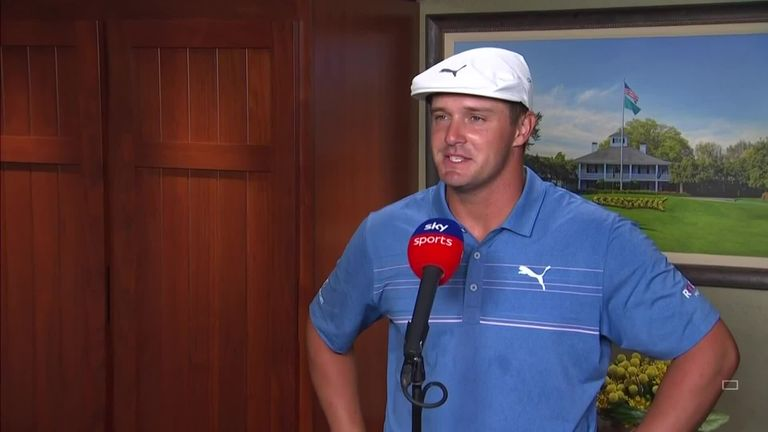 Bryson DeChambeau reflects on a 'great' second round at The Masters and making the most of his distance off the tee to post a second-round 67