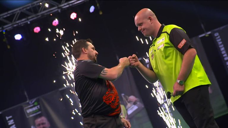 Premier League Darts 2021: Nathan Aspinall top of table after dominant win over
