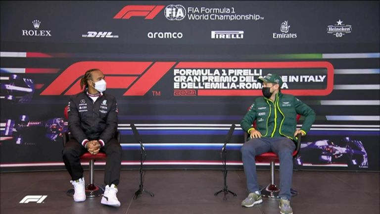 The big Thursday debate at the Emilia-Romagna GP: F1 legends Lewis Hamilton and Sebastian Vettel discuss which animal they'd each like to be.