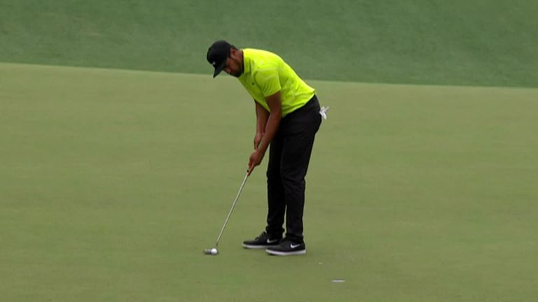 A look back at the top shots from Tony Finau's second round at The Masters, where the American finished on four under