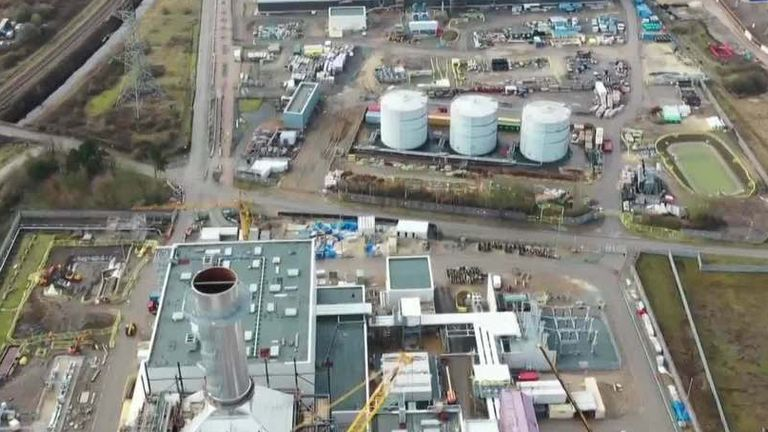 Site for planned hygrogen power station in north Lincolnshire. Pic: SSE