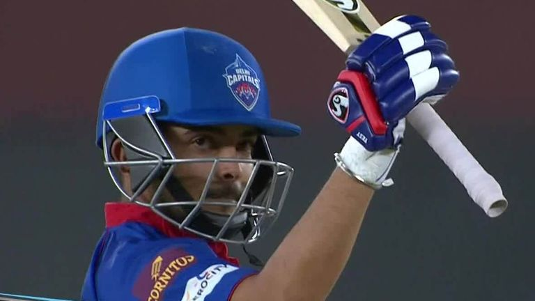 Prithvi Shaw hammered 82 from 41 balls, including six fours in a row off Shivam Mavi, as Delhi Capitals beat Kolkata Knight Riders by seven wickets in the IPL