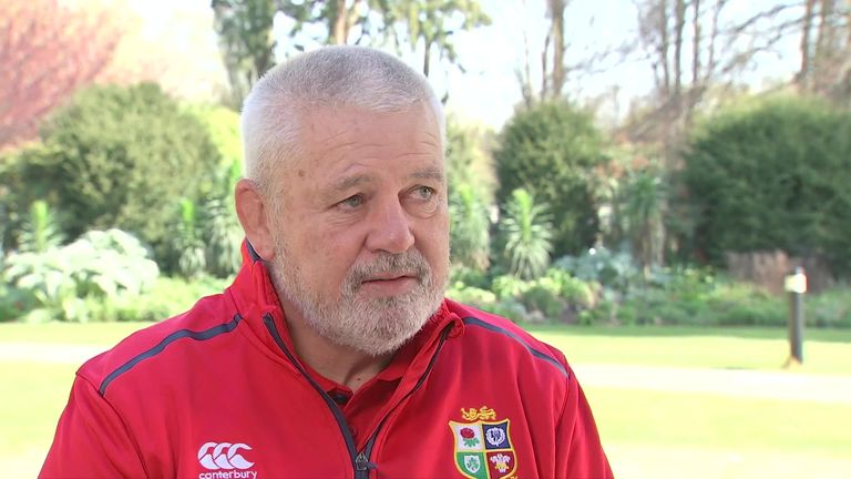 Gatland on his coaching staff for the British and Irish Lions tour of South Africa, as well as his thoughts on squad and captain selection
