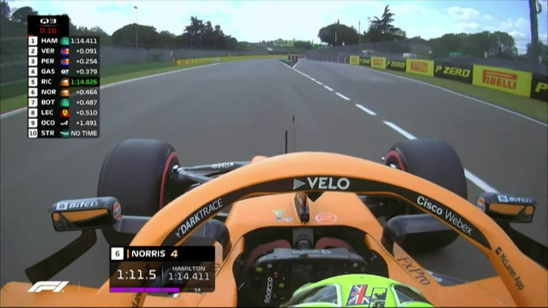 Lando Norris was close to taking his first top three in qualifying but his Imola qualifying lap exceeded track limits