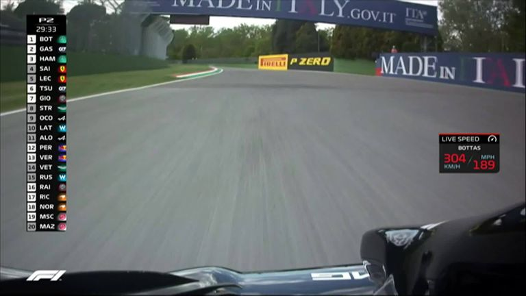 F1 nose cam! Ride onboard around the Imola circuit with Valtteri Bottas during Practice Two ahead of the Emilia-Romagna GP
