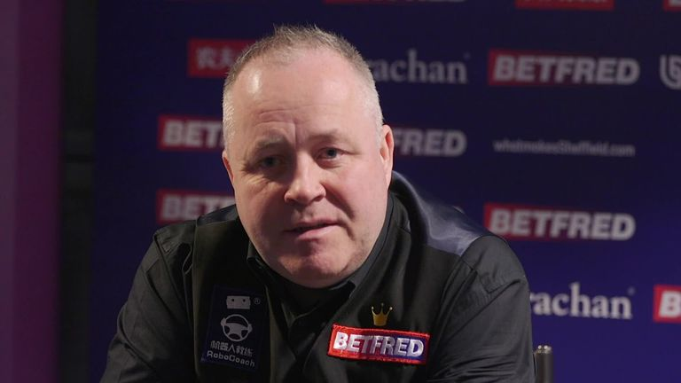 John Higgins says he is looking forward to a new family arrival after his World Championship exit
