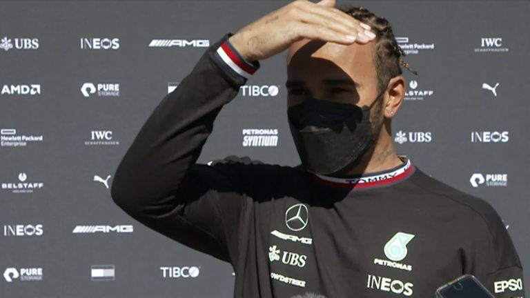 Lewis Hamilton reflects on a positive Friday for Mercedes at the Portuguese GP after a practice double, but still expects a 'very close' battle with Red Bull