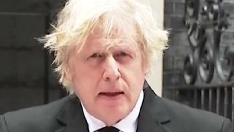 Prime Minister Boris Johnson says the nation mourns with the Queen following the death of the Duke of Edinburgh.