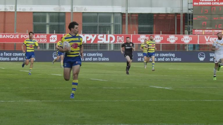 All of the key moments as Warrington Wolves ended Catalans Dragons' unbeaten start to the Super League season.