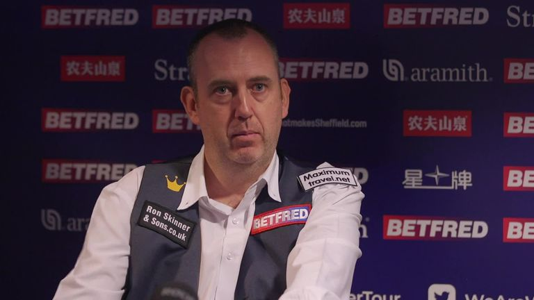 Mark Williams discusses his break-off exploits and says he is still enjoying his snooker despite a heavy defeat