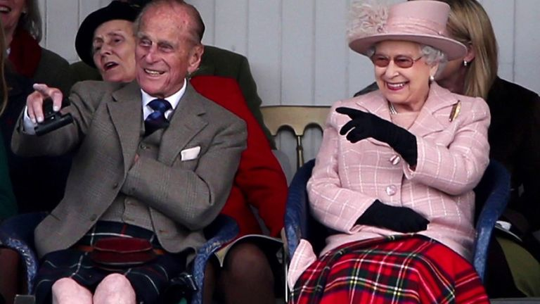 Prince Philip with the Queen