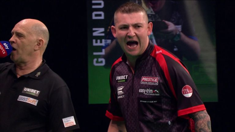 Aspinall produced a moment of magic to take out 144 during his game against Van den Bergh