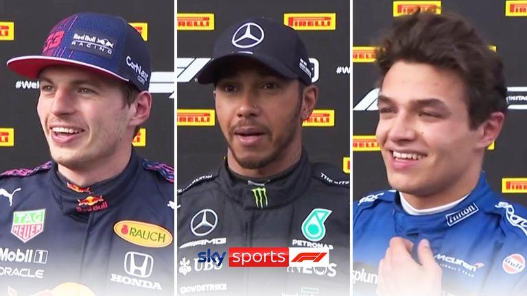 Max Verstappen, Lewis Hamilton and Lando Norris took the top three podium spots at the Emilia-Romagna Grand Prix.