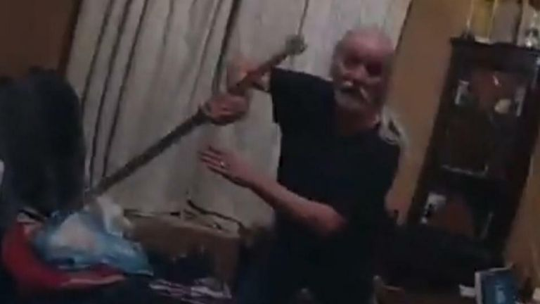 Man 'partially severs' officers finger with sword