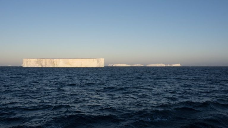 The iceberg has broken up into tiny pieces, which are too small to track any further