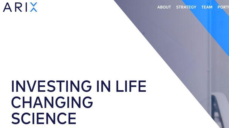 Arix Bioscience website screengrab 22/4/21