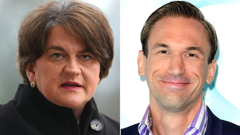 Arlene Foster and Dr Christian Jessen
