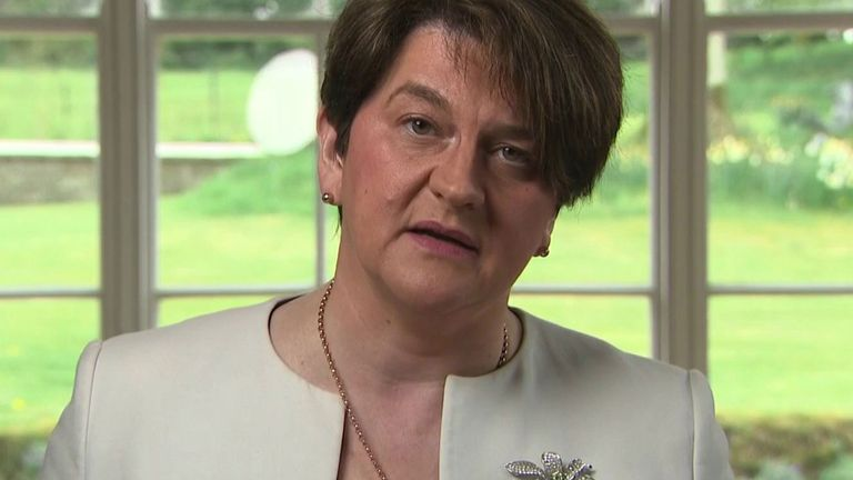 Arlene Foster stands down as the leader of the DUP.