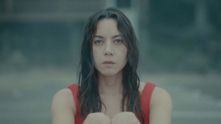 Plaza starred in and produced Black Bear. Pic: Black Bear - released on digital 23 April