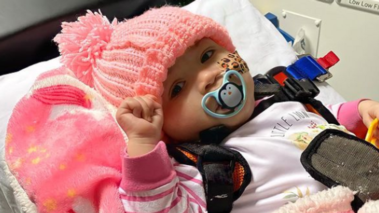 Azaylia has returned home from hospital. Pic: Ashley Cain