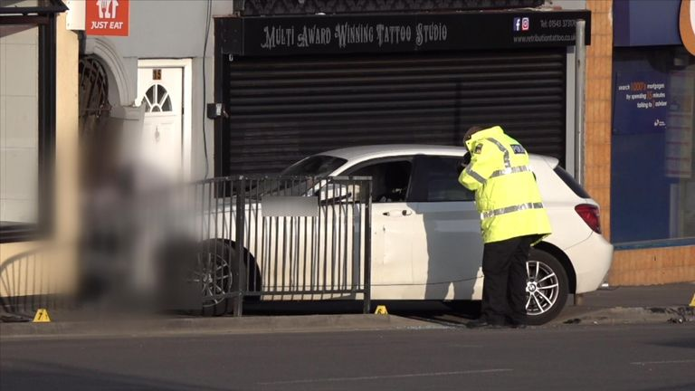 A two-week-old baby boy has died after his pram was hit by a car. A BMW is understood to have been involved in a collision with another car in High Street, Brownhills, before striking the baby's pram at around 4pm on Easter Sunday, West Midlands Police said. The baby was being pushed along the pavement by family at the time and suffered serious injuries.