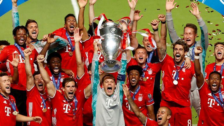 Bayern Munich win the 2020 Champions League final