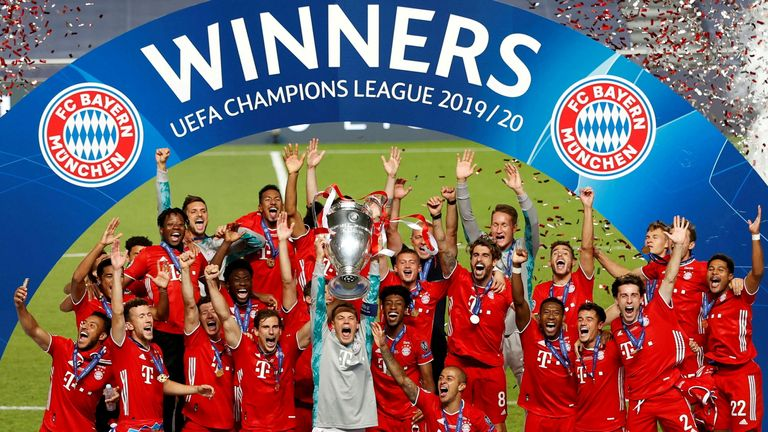 Last season's Champions League winners Bayern Munich are not even part of the breakaway group of clubs