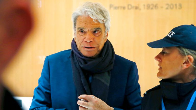 Bernard Tapie was beaten up alongside his wife during a burglary of their home in the early hours of Sunday