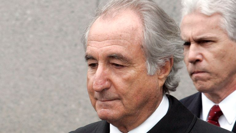Bernie Madoff has died aged 82. Pic: Associated Press