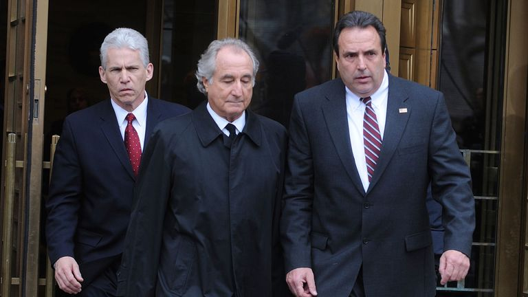 Bernie Madoff outside court in 2009. Pic: Associated Press