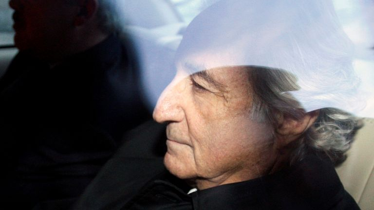Madoff was sentenced to 150 years in prison. Pic: Associated Press