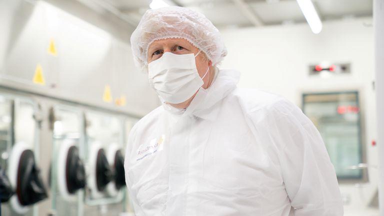 Britain's PM Boris Johnson visits AstraZeneca manufacturing centre in Macclesfield Britain's Prime Minister Boris Johnson visits AstraZeneca manufacturing centre in Macclesfield, Cheshire, Britain April 6, 2021. Dave Thompson/Pool via REUTERS