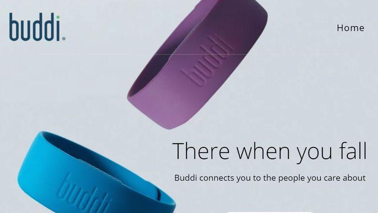 Buddi website screenshot uploaded 13/4/21